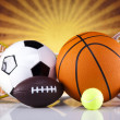Sport equipment and balls — Stock Photo #34180367