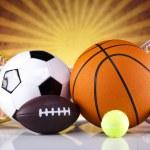 Sport equipment and balls — Stock Photo #34180367