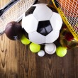 Sport equipment and balls — Stock Photo #34180377