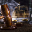 Scales of justice, gavel and books — Stock Photo #34180669