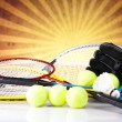 Group of sports equipment — Stock Photo