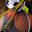 Sport equipment and balls — Stock Photo #34182237
