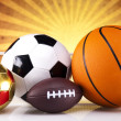 Sport equipment and balls — Stock Photo