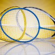 Badminton rackets — Stock Photo