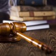Scales of justice, gavel and books — Stock Photo #34185789