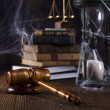 Scales of justice, gavel and books — Stock Photo #34186879