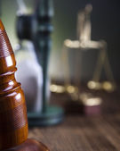 Wooden gavel barrister, law — Stock Photo