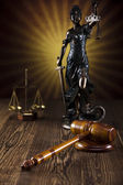 Law theme, mallet of judge,wooden gavel — Stock Photo