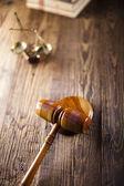 Law theme, mallet of judge! — Stock Photo