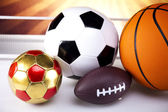 Group of sports equipment — Stockfoto