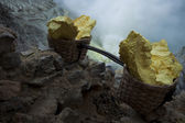 Baskets of sulfur — Stock Photo