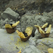 Stock Photo: Baskets of sulfur
