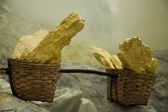 Basket of sulfur — Stock Photo
