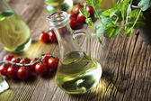 Carafe with olive oil — Stock Photo