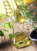 Olive oil bottles — Stockfoto