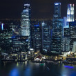 Stock Photo: Singapore city skyline