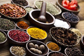 Spices, cooking ingredients — Stock Photo