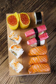 Sushi and rolls — Stock fotografie