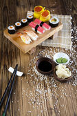 Set of sushi — Stock fotografie