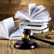 Gavel and books — Stock Photo
