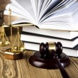 Gavel and books — Stock Photo #41648975