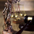 Stock Photo: Lady justice and law