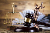 Lady justice and law — Stock Photo