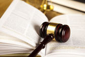 Gavel of judge and book — Stock Photo