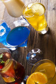 Various cocktails with fruits — Foto Stock