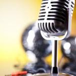 Retro microphone — Stock Photo #49103087