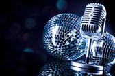 Retro-mikrofon — Stockfoto