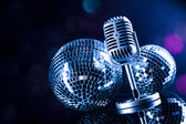 Retro style microphone — Stock Photo