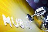 ретро микрофон — Стоковое фото