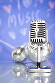 Microfone retrô — Foto Stock