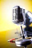 Micrófono retro — Foto de Stock