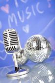 Retro microfoon — Stockfoto