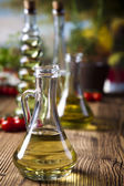 Carafe of Olive oil — Stock Photo