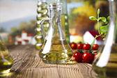 Olivolja med tomater — Stockfoto