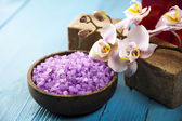 Orchids,organic products, Spa — Stock Photo