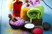 Sal de baño naturales, productos orgánicos, spa — Foto de Stock