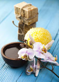 Orchids,organic products, Spa — Photo