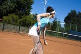 女人打网球 — 图库照片