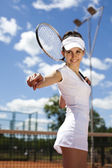 Ready for hitting the ball — Stock Photo