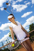 Mulher jogando tênis — Foto Stock