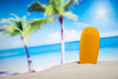 Sun tan on beach — Stock Photo