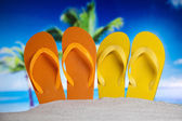 Colorful flip flops — Stock Photo