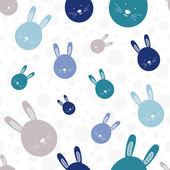 Funny bunny seamless pattern — Vector de stock