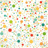 Multicolored spotted seamless pattern — Stock Vector