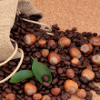 Hazelnut Coffee - Stock Photo