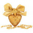 Gold Bauble Decoration - Stock Photo